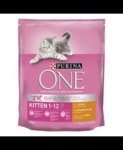 Purina One 800g Kitten/Junior Runsaasti Kanaa ja Täysyväviljaa kissanruoka