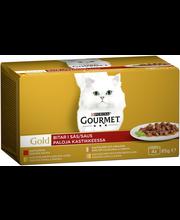 Gourmet 4x85g Gold Kastike lajitelma 4 varianttia kissanruoka
