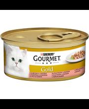 Gourmet 85g Gold Lohta ja Kanaa Kastikkeessa kissanruoka