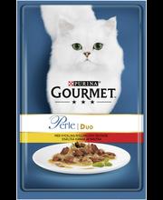 Gourmet 85g Perle Kanaa & Naudanlihaa Delicate Meats Duo kissanruoka