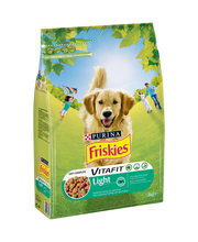 Friskies 3kg Adult Light Kanaa ja Kasviksia koiranruoka