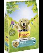 Friskies 3kg Senior Kanaa ja Kasviksia koiranruoka