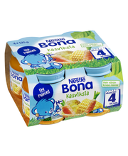 Nestlé Bona 4x125g Kasviksia lastenateria 4kk