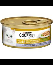 Gourmet 85g Gold Vasikanlihaa Kasviskastikkeessa kissanruoka