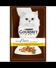 Gourmet 85g A la Carte Chef's Recipes Kanaa, lisänä Helmipastaa kissanruoka