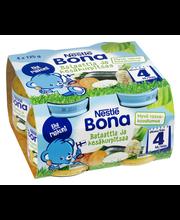 Nestlé Bona 4x125g Bataattia ja kesäkurpitsaa lastenateria 4kk