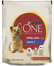 Purina ONE 800g Small Dog <10kg Adult Runsaasti Nautaa, sisältää Riisiä koiranruoka