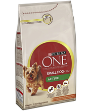 Purina ONE 1,5kg Small Dog <10kg Active Runsaasti Kanaa, sisältää Riisiä koiranruoka
