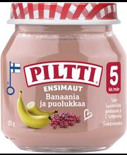 Piltti Ensimaut 125g Banaania ja puolukkaa hedelmä- ja marjasose 5kk