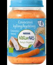 Nestlé NaturNes 190g Luomu Couscous-kanaa lastenateria 8kk