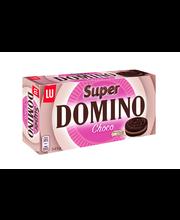 Domino Super Choco 345g kaakaokeksi, jossa suklaanmakuista täytettä