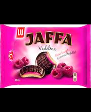 Jaffa Vadelma 294g suklaalla kuorrutettu leivoskeksi, jossa vadelmanmakuista täytettä  (52%)