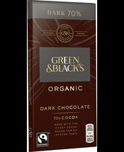Green&Blacks ORGANIC DARK 70% suklaalevy 90g