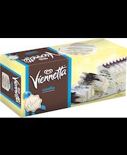 Viennetta 650ml Vanilja vaniljanmakuinen jäätelö, rapeita kaakaokerroksia, jäätelökakku