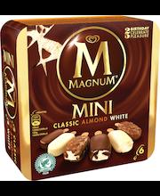 Magnum 6kpl/300g Mini Classic Almond White -jäätelöpuikkoja monipakkaus