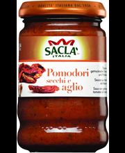Sacla 190g Pesto pomodori secchi & aglio aurinkokuivattu tomaatti ja valkosipuli