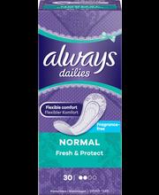 Always 30kpl Normal Fresh&Protect pikkuhousunsuoja