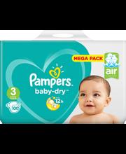 Pampers 100 kpl Baby Dry S3 5-9kg Megapakkaus
