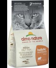 Almo Nature Holistic Cat siika & riisi 400g, kuivaruoka kissoille