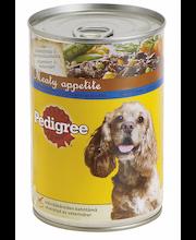 Pedigree 400g Meaty Apetite lammasta, vihanneksia ja pastaa täysrehua aikuisille koirille