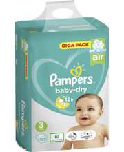 Pampers 152kpl BabyDry...