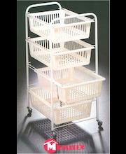Korivaunu Jumbotex, 46x35x76 cm, 4 vaihtokoria, Metaltex