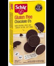 Schär Chocolate O's 165g vaniljatäytteinen suklaakeksi GTON