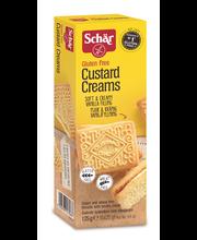 Schär Custard Creams 125g vaalea vaniljatäytekeksi GTON