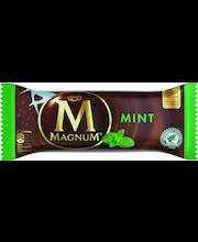 Magnum 88g/110ml Mint minttujäätelöä, tumma maitosuklaakuorrutus, sokeroituja rakeita, jäätelöpuikko