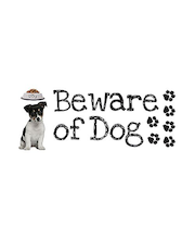 Home Decor sisustustarra Beware of Dog 62022, 2 x 15x31 cm