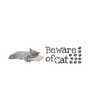 Home Decor sisustustarra Beware of Cat 62023, 2 x 15x31 cm
