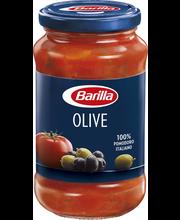 Barilla 400g/380ml Olive vihreät ja mustat oliivit tomaattikastike