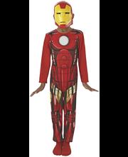 Iron Man puku ja naamio, koko M