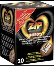 ZIP Energy 20kpl yksittäispakatut sytytyspalat