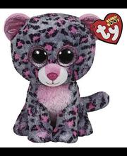 Ty Tasha vaaleanpunainen/harmaa leopardi pehmo 15 cm