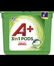 A+ Ariel 24kpl 3in1 Pods White nestemäinen pykinpesutabletti