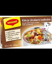 Maggi 10kpl/100g Kirkas Lihaliemi keittoihin liemikuutio