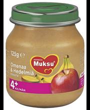 Nutricia Muksu 125g Omenaa & Hedelmiä 4kk