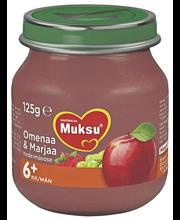 Nutricia Muksu 125g Omenaa & Marjaa 6kk