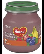 Nutricia Muksu 125g Mustikkaa & Hedelmiä 6kk