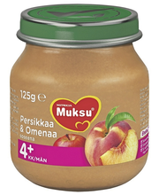 Nutricia Muksu 125g Persikkaa & omenaa 4kk