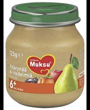 Nutricia Muksu 125g  Päärynää & Hedelmiä 6kk