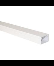 Johtokouru 25x20 mm, 2 m D1009 valkoinen