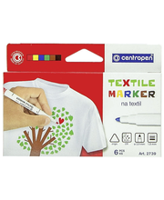 Tekstiilitussi 6Väriä Cen