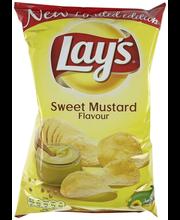 Lay's 175g Sweet Mustard makea sinappi -kastikkeen makuinen perunalastu