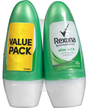 Rexona 2x50ml Aloe Vera Roll-on