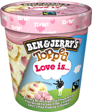 Ben&Jerry's 470ML / 421g jäätelöpakkaus Topped Love Is