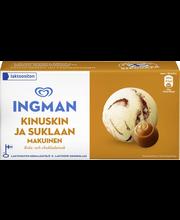 Ingman  1000 ML Kinuski-Suklaa jäätelöpakkaus