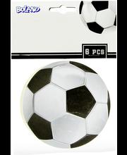 Jalkapallo lasinaluset 6 kpl/pkt