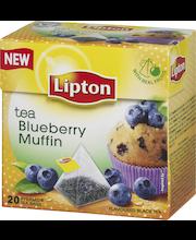 Lipton 20ps Blueberry Muffin pyramidi musta tee